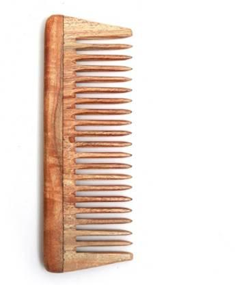 "Ishita International Handmade Neem Wood anti-static Shampoo Comb 6"""