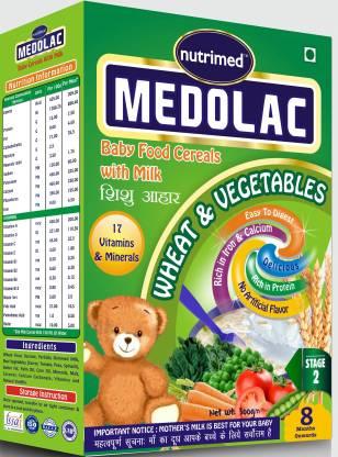 nutrimed Medolac Baby Food (8 Months Onwards) Vegetables & Cereal