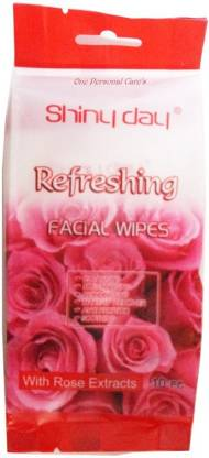 One Personal Care Refreshing Wipes with Rose extracts   Cosmetic Cleanser   Makeup Remover   Anti-Puritic   Moisturizing   Soothing   Deodorizing