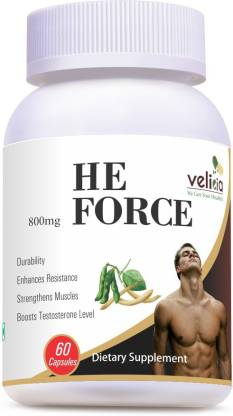 Velicia He Force Natural Testosterone Booster with Energy and Bodybuilding Supplement 60