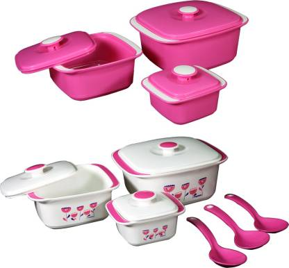 NAYASA Delish Microwavable Pack of 3 Thermoware Casserole Set