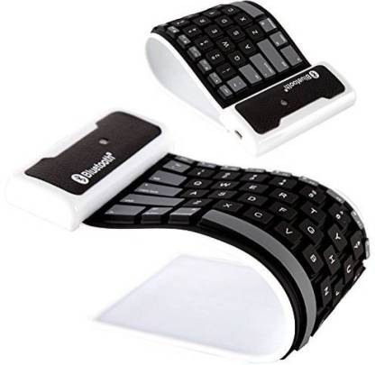 Newvez Flexible Silicon Roll up Bluetooth Wireless Multi-device Keyboard