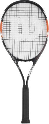 WILSON Match Point Black, Orange Strung Tennis Racquet
