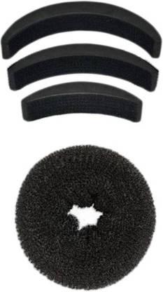 Chanderkash Medium Donut Bun Maker With Bumpits Celebrity Look 4Pc Hair Accessory Set Hair Accessory Set