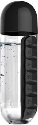 VibeX ® Medicine & Vitamin Organizer Water Bottle Pill Box