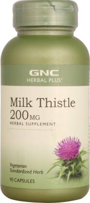 GNC Herbal Plus Milk Thistle 250 mg Supports Healthy Liver Function
