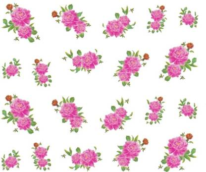 SENECIO™ Rose Bunch Multicolor Style - 13 Nail Art Manicure Decals Water Transfer Stickers Sheet