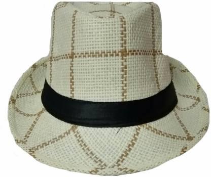 Self Design, Solid Beige Beach Hat For Mens,Girls,Boys,Womens Cap