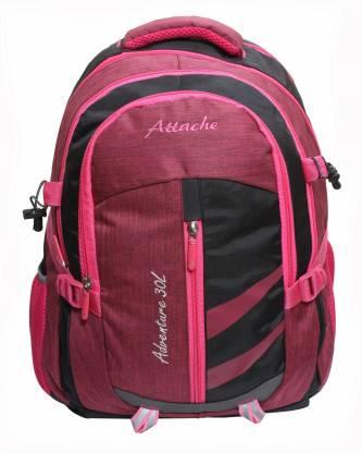Attache Adventure 30lt School Bag (Pink & Orange) With Rain Cover … Waterproof School Bag