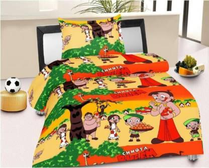 shubh krishna Cotton Single 3D Printed Bedsheet