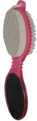Bruzone 4in1 Pedicure Paddle Brush with Pumice Stone Cleanse Scrub Buff Foot Scrubber Pack Of 1