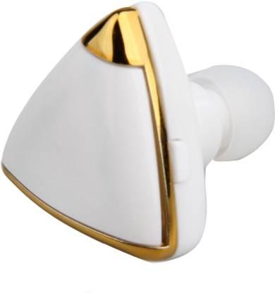 Technomart White Golden Heart Stereo - v4.1 Bluetooth Headset with...