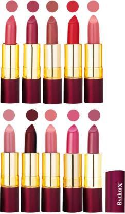 RYTHMX Matte Lipstick Set Of 10 Pcs 95