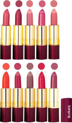RYTHMX Matte Lipstick Set Of 10 Pcs 98