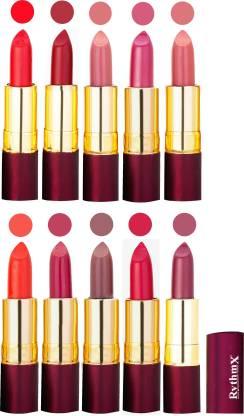 RYTHMX Matte Lipstick Set Of 10 Pcs 103