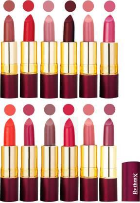 RYTHMX Dry Matte Lipstick Combo Set Of 12 Pcs 116