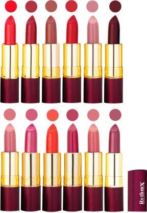 RYTHMX Dry Matte Lipstick Combo Set Of 12 Pcs 114