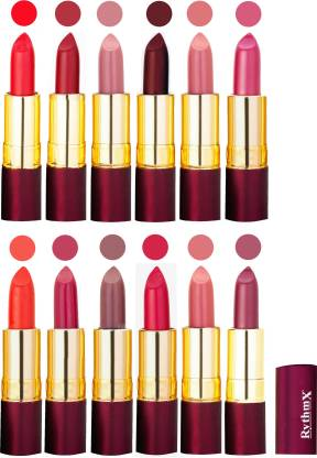 RYTHMX Dry Matte Lipstick Combo Set Of 12 Pcs 115