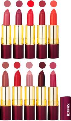 RYTHMX Matte Lipstick Set Of 10 Pcs 90