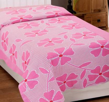 Shreejee 144 TC Cotton Single Floral Bedsheet