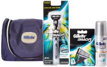 GILLETTE mach-3 turbo shaving kit Price in India - Buy GILLETTE mach-3  turbo shaving kit online