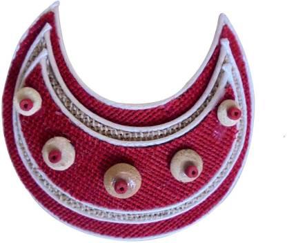 Alekip Alekip Red Colour Jute Clip Hair Clip