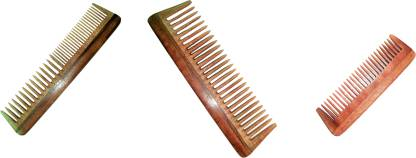 BLITHE BLITHE NEEM WOOD COMB PACK OF 2 COMB (7.5 INCH) & 1 FREE POCKET COMB
