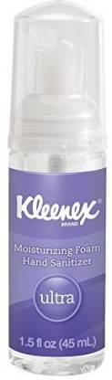 Kimberly-Clark Professional Kleenex Ultra Moisturizing Foam Hand Sanitizer (34604), Clear, Pump Bottles, 24 Bottles / Case