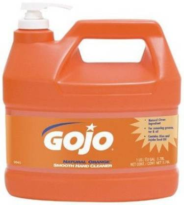 Gojo Industries 315-0945-04 Natural Orange Smooth Hand Cleaner, With Pump pack Of 4