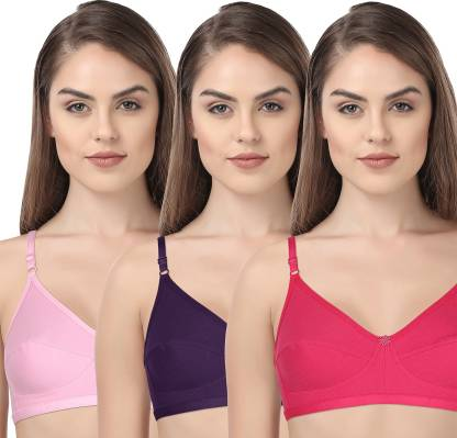 INNER TOUCH Poly Cotton Women Full Coverage Non Padded Bra