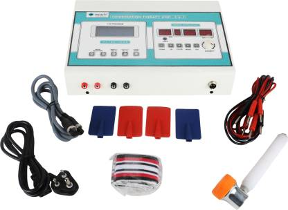 UB PHYSIO SOLUTIONS White Electro Therapy Combination Therapy (Ift+Ms+Tens)(125 Prog.)+Us Digital Electrotherapy Device