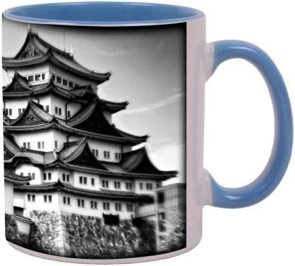 Arkist nagoya castle in black and white x Ceramic Coffee Mug