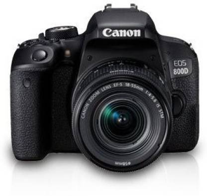 Canon EOS 800D DSLR Camera Body with Single Lens: EF S18-55 IS STM (16 GB SD Card + Camera Bag)