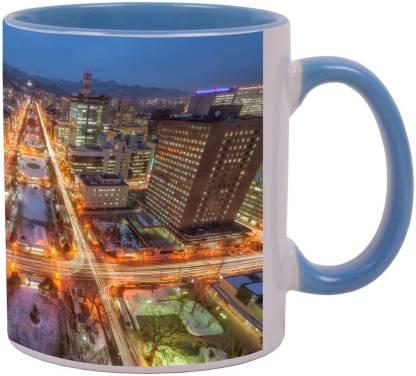 Arkist sapporo at night Ceramic Coffee Mug