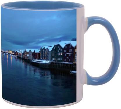 Arkist trondheim am nidelv whrend der polarnacht wallpa Ceramic Coffee Mug