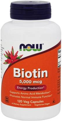 Now Foods NOW BIOTIN 5000 MCG 120 CAPSULES