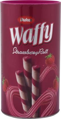 Dukes Waffy Strawberry Wafer Rolls