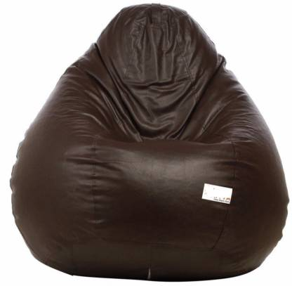 VSK XXL Tear Drop Bean Bag Cover (Without Beans)  (Brown)