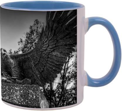 Arkist eagle sculpture nagoya japan Ceramic Coffee Mug