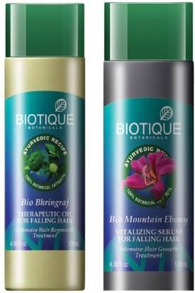 Biotique Hair Falling Mountain Ebony serum and Bio Bhringraj hair oil
