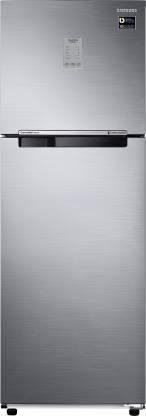 Samsung 345 L Frost Free Double Door 3 Star Refrigerator Elegant Inox, RT37M3743S8  Samsung Refrigerators