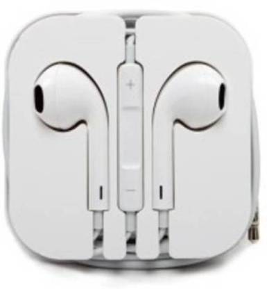 Ekambotics Extra Bass, Stereo, Wired, earphone (White, In the Ear) Bluetooth without Mic Headset