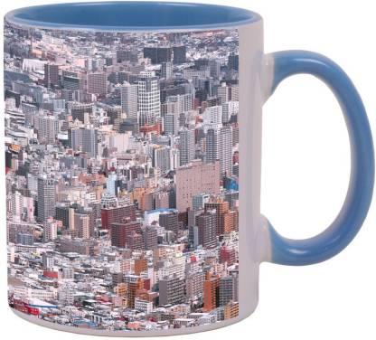 Arkist sapporo winter Blue Ceramic Coffee Mug