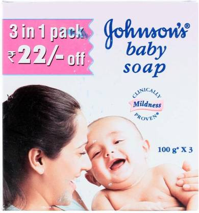 JOHNSON'S BABY SOAP UPGRADE 100gm 3 Pack