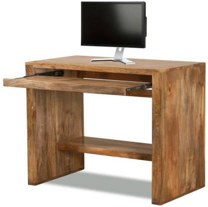 The Attic Solid Wood Computer Desk, Walnut Computer Desk