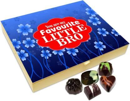 Chocholik Raksha-bandhan Gift Box - Favorite Sweet Little Brother Chocolate Box For Brother / Sister - 20pc Truffles