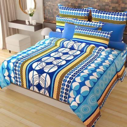 Home Candy 144 TC Cotton Double Geometric Bedsheet