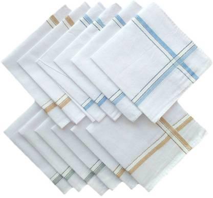 """MEG SD1010 [""""White""""] Handkerchief(Pack of 12)"""