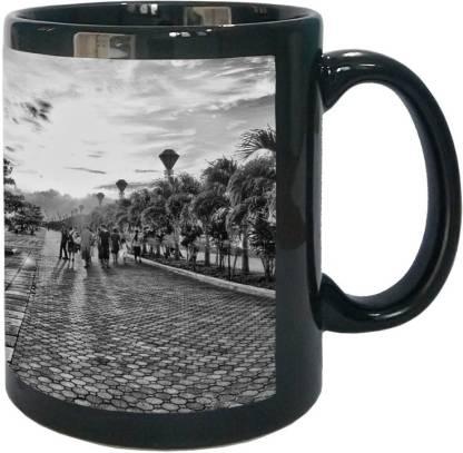 Arkist baywalk puerto princesa city 2 wallpaper x16 Black Ceramic Coffee Mug