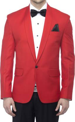 Favoroski Solid Single Breasted Party Men Blazer